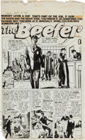 "Original Comic Art:Complete Story, Joe Albistur Police Trap #1 Complete 6-Page Story ""TheBeefer"" Original Art (Mainline, 1954).... (Total: 6 Original Art)"