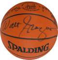Autographs:Baseballs, 1969-70 New York Knicks Team Signed Leather NBA Basketball - WorldChampionship Season! ...