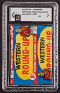 "Non-Sport Cards:Unopened Packs/Display Boxes, 1956 Topps ""Western Round-Up"" 1-Cent Wax Pack GAI NM 7. ..."