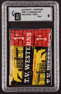 "Non-Sport Cards:Unopened Packs/Display Boxes, 1958 Topps ""TV Westerns"" 1-Cent Wax Pack GAI Mint 9. ..."