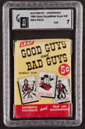 "Non-Sport Cards:Singles (Pre-1950), 1966 Leaf ""Good Guys and Bad Guys"" 5-Cent Wax Pack GAI NM 7. ..."