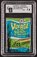 "Non-Sport Cards:Unopened Packs/Display Boxes, 1964 Donruss ""Voyage to The Bottom Of The Sea"" 5-Cent Wax Pack GAINM+ 7.5. ..."
