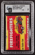 """Non-Sport Cards:Unopened Packs/Display Boxes, 1954 Bowman """"Firefighters"""" 1-Cent Wax Pack GAI NM 7. ..."""