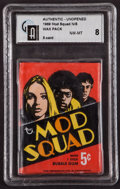"Non-Sport Cards:Unopened Packs/Display Boxes, 1969 Topps ""Mod Squad"" 5-Cent Wax Pack GAI NM-MT 8. ..."