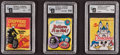 Non-Sport Cards:Unopened Packs/Display Boxes, 1965-1972 Topps Fleer & Donruss GAI Graded Wax Pack Trio (3)....