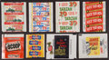 Non-Sport Cards:Unopened Packs/Display Boxes, 1950's-1970's Topps, Fleer & Others Wrappers Collection (25)....