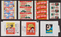 Non-Sport Cards:Unopened Packs/Display Boxes, 1950's-1970's Topps, Fleer & Others Wrappers Collection (16)With Bobby Sherman Test. ...
