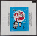 "Non-Sport Cards:Unopened Packs/Display Boxes, Scarce 1967 Leaf ""Star Trek"" 5-Cent Wax Pack Wrapper. ..."