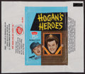 """Non-Sport Cards:Unopened Packs/Display Boxes, Scarce 1965 Fleer """"Hogan's Heroes"""" 5-cent Wax Pack Wrapper. ..."""