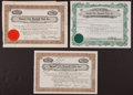 Baseball Collectibles:Others, 1939-53 Kansas City Blues Baseball Certificate - Lot of 3 TwoSigned by Hall of Famer Ed Barrow. ...