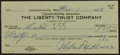 Baseball Collectibles:Others, 1955 Lefty Grove Signed Check....