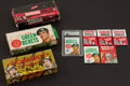 Non-Sport Cards:Unopened Packs/Display Boxes, 1960's Multi-Brand Empty Counter Display Boxes, Packs and Wrappers(14) - War Theme. ...