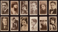 Non-Sport Cards:Sets, 1922 T85 Strollers Cigarettes Film Stars (57 Diff). ...