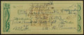 Baseball Collectibles:Others, 1952 Al Simmons Twice Signed Check....