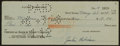 Baseball Collectibles:Others, 1948 Jackie Robinson Signed Check, With Letter from Wife....