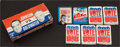 Non-Sport Cards:Unopened Packs/Display Boxes, 1960's-1970's Topps Political Themed Empty Counter Display Box& Packs (8). ...
