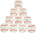 Baseball Collectibles:Balls, Rollie Fingers Signed Signed Baseball With Inscriptions - Lot of10. ...