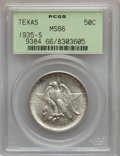 Commemorative Silver: , 1935-S 50C Texas MS66 PCGS. PCGS Population (350/100). NGC Census:(437/84). Mintage: 10,000. Numismedia Wsl. Price for pro...