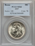 Commemorative Silver: , 1937 50C Boone MS66 PCGS. PCGS Population (383/77). NGC Census:(260/54). Mintage: 9,810. Numismedia Wsl. Price for problem...