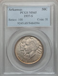 Commemorative Silver: , 1937-S 50C Arkansas MS65 PCGS. PCGS Population (210/64). NGCCensus: (177/32). Mintage: 5,506. Numismedia Wsl. Price for pr...