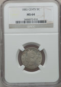 Liberty Nickels: , 1883 5C With Cents MS64 NGC. NGC Census: (307/187). PCGS Population(345/182). Mintage: 16,032,983. Numismedia Wsl. Price f...