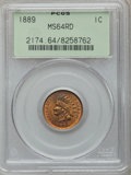 Indian Cents: , 1889 1C MS64 Red PCGS. PCGS Population (91/41). NGC Census:(126/60). Mintage: 48,869,360. Numismedia Wsl. Price for proble...