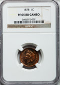 Proof Indian Cents: , 1878 1C PR65 Cameo NGC. NGC Census: (8/2). PCGS Population (8/5). ...