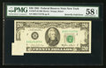 Error Notes:Foldovers, Fr. 2075-B $20 1985 Federal Reserve Note. PMG Choice About Unc 58EPQ.. ...
