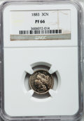 Proof Three Cent Nickels: , 1883 3CN PR66 NGC. NGC Census: (291/84). PCGS Population (344/67).Mintage: 6,609. Numismedia Wsl. Price for problem free N...