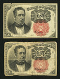 Fractional Currency:Fifth Issue, Fr. 1265 10¢ Fifth Issue Very Good. Fr. 1266 10¢ Fifth Issue Fine..... (Total: 2 notes)