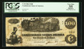 Confederate Notes:1862 Issues, T39 $100 1862 Fricke PF-10 Cr. UNL.. ...