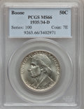 Commemorative Silver: , 1935/34-D 50C Boone MS66 PCGS. PCGS Population (171/59). NGCCensus: (119/57). Mintage: 2,003. Numismedia Wsl. Price for pr...
