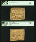 Colonial Notes:Pennsylvania, Pennsylvania April 3, 1772 2s 6d PCGS Very Fine 30, Two Examples..... (Total: 2 notes)