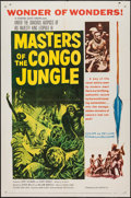 "Movie Posters:Documentary, Masters of the Congo Jungle (20th Century Fox, 1960). One Sheet (27"" X 41"") and Lobby Card Set of 8 (11"" X 14""). Documentar... (Total: 9 Items)"