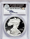 Modern Bullion Coins, 2012-W $1 One-Ounce Silver American Eagle, Insert autographed ByJohn M. Mercanti,12th Chief Engraver of the U.S. Mint, F...