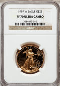 Modern Bullion Coins: , 1997-W G$25 Half-Ounce Gold Eagle PR70 Ultra Cameo NGC. NGC Census:(454). PCGS Population (115). Numismedia Wsl. Price fo...