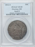 Bust Half Dollars: , 1812/1 50C Small 8 VF35 PCGS. O-102. PCGS Population (12/104). NGCCensus: (5/79). Numismedia Wsl. Price for problem free...