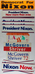 Books:Americana & American History, [Bumper Stickers, Political and Olympic]. Nixon, McGovern, and LAOlympics. Group of 22 unused pieces. Near fine....