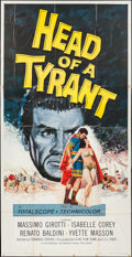 "Movie Posters:Adventure, Head of a Tyrant (Universal International, 1960). Three Sheet (41""X 79""). Adventure.. ..."