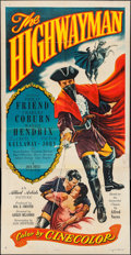 "Movie Posters:Adventure, The Highwayman (Allied Artists, 1951). Three Sheet (41"" X 80"").Adventure.. ..."