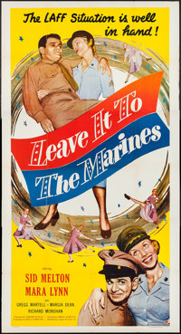 """Leave It to the Marines (Lippert, 1951). Three Sheet (41"""" X 80""""). Comedy"""