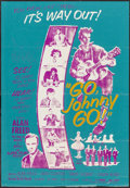 "Movie Posters:Rock and Roll, Go, Johnny, Go! (Hal Roach, 1959). Caribbean Double Crown (21.5"" X 31""). Rock and Roll.. ..."