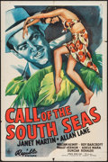 "Movie Posters:Adventure, Call of the South Seas (Republic, 1944). One Sheet (27"" X 41"").Adventure.. ..."
