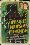 """Movie Posters:Horror, The Invisible Man's Revenge (Universal, 1944). One Sheet (27"""" X 41""""). Horror.. ..."""