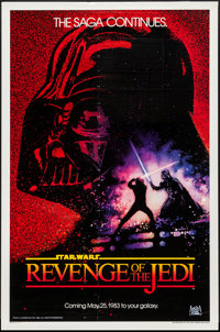 "Revenge of the Jedi (20th Century Fox, 1982). One Sheet (27"" X 41"") Dated Advance Style. Science Fiction"