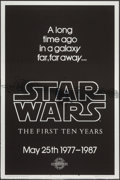 "Movie Posters:Science Fiction, Star Wars (Kilian Enterprises, 1987). 10th Anniversary Silver MylarOne Sheet (27"" X 41"") Style A. Science Fiction.. ..."