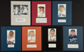 Baseball Collectibles:Others, Baseball Hall of Famer Signed Cut Display With Grove, Frisch,McCarthy, Paige, Sisler, Waner and Stengel - Lot of 7....