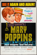 """Movie Posters:Fantasy, Mary Poppins & Other Lot (Buena Vista, R-1973). Posters (2) (40"""" X 60""""). Fantasy.. ... (Total: 2 Items)"""
