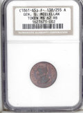 Civil War Merchants: , (1861-65) General G. McClellan, Fuld-138/255a, R.2, MS62 Red andBrown NGC. This token has more than 50% of the original lus...