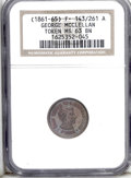 Civil War Tokens: , (1861-65) George McClellan/One Cent Reverse, Fuld-143/261a, MS63Brown NGC. This glossy token has a slight blue hue over the...